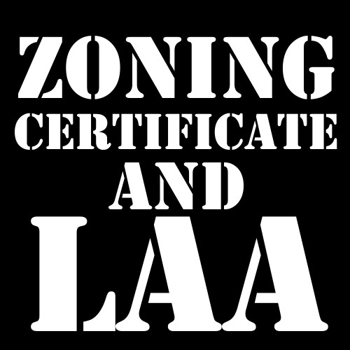 Zoning Certificate and LAA